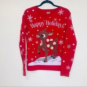 Rudolph Red Ugly Christmas Sweater